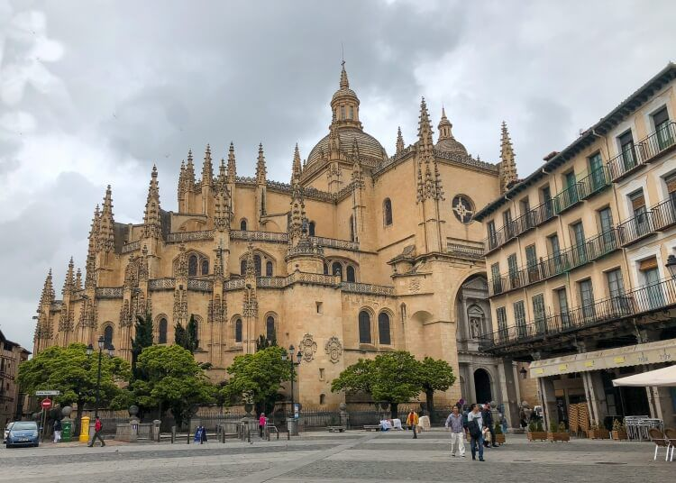 Segovia Cathedral during a day trip to Segovia