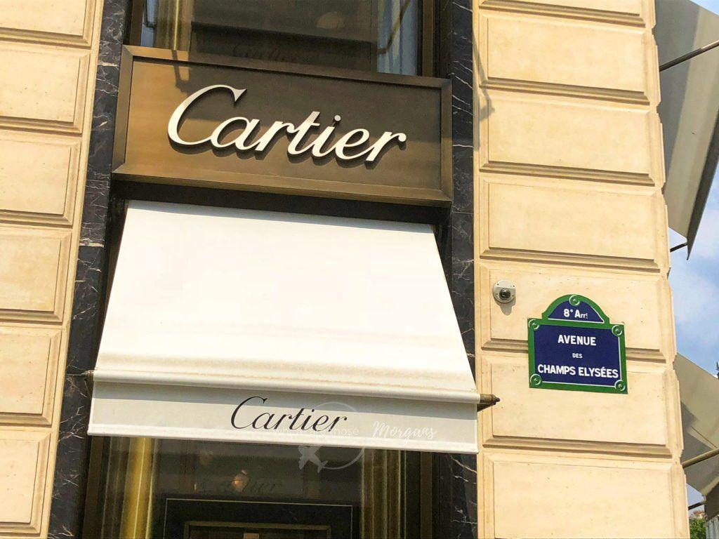 Cartier in Paris along Avenue des Champs Elysees