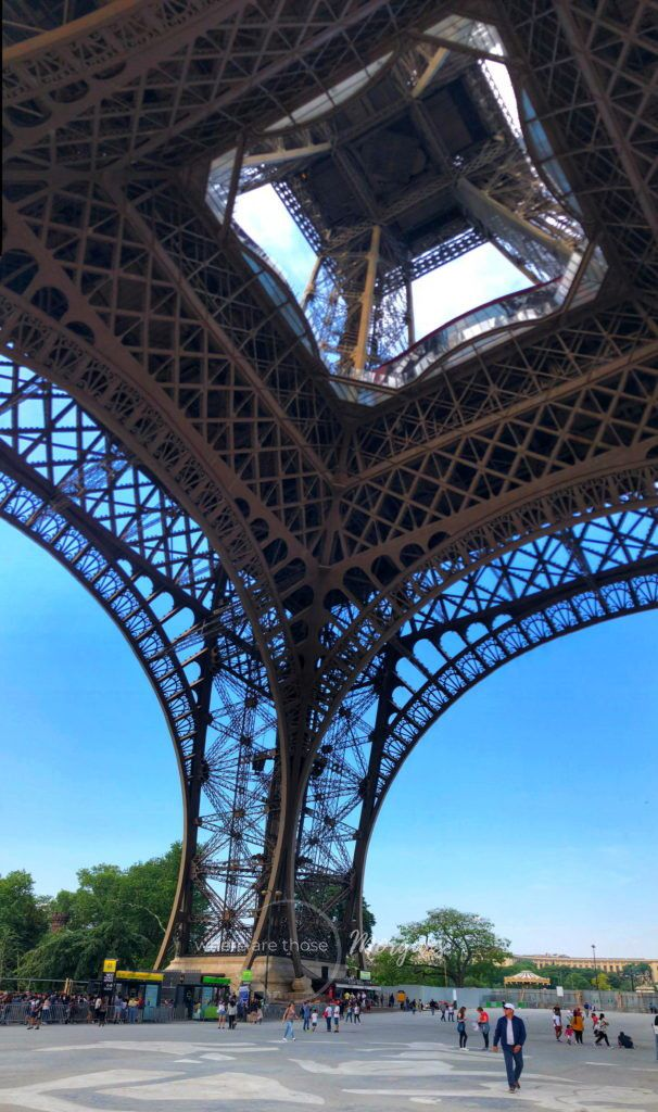 View from underneath the Eiffel Tower