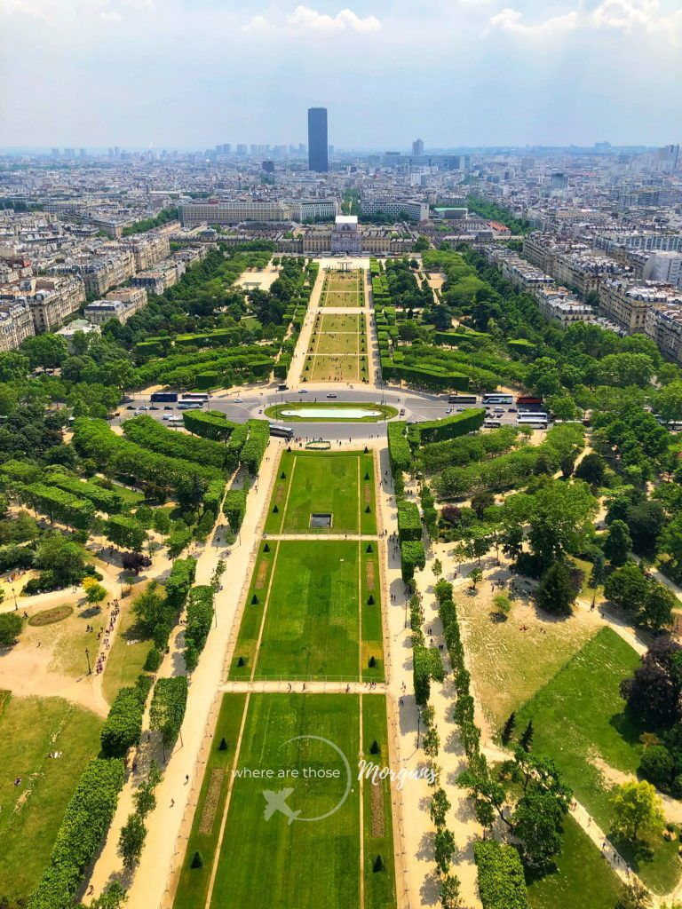 View from the Eiffel Tower on the Second Story