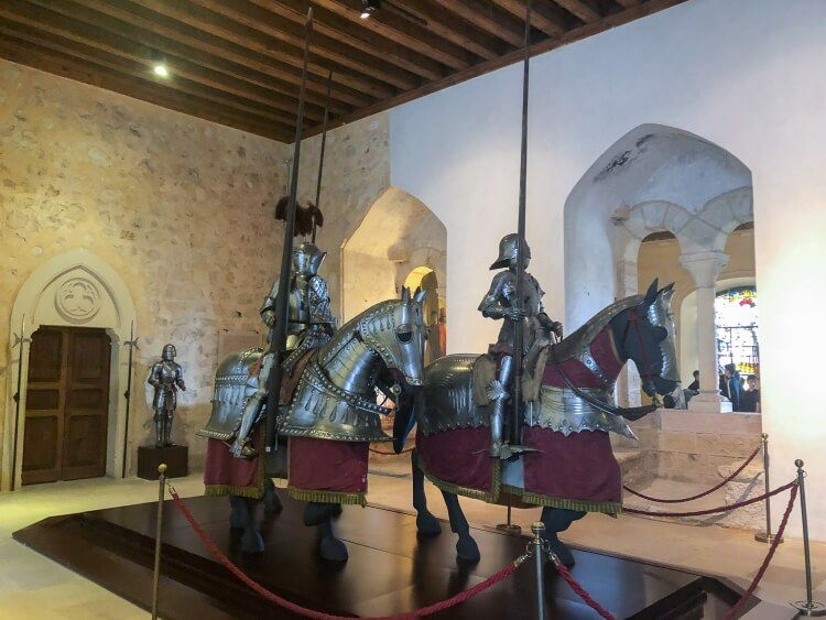 knights on display in the alcazar