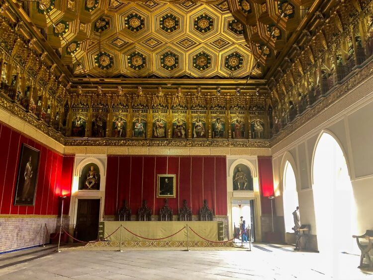knights hall in the alcazar