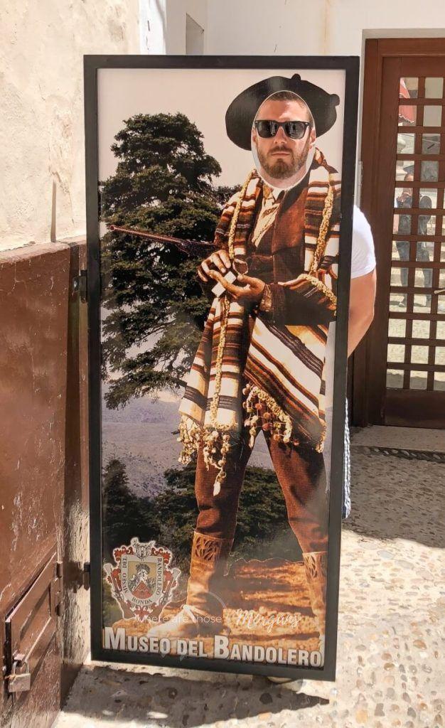 Mark posing outside the Museo del bandolero in Ronda