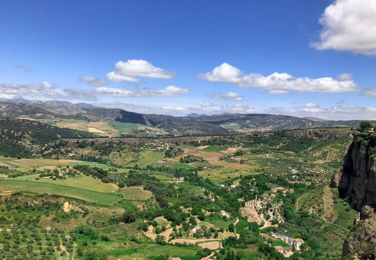 view of the countryside in Ronda