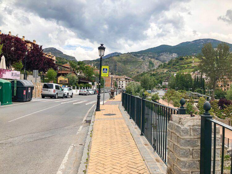 main road through Monachil to hiking los cahorros