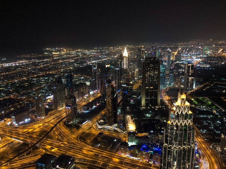 View of the city from a top the Burj Khalifa