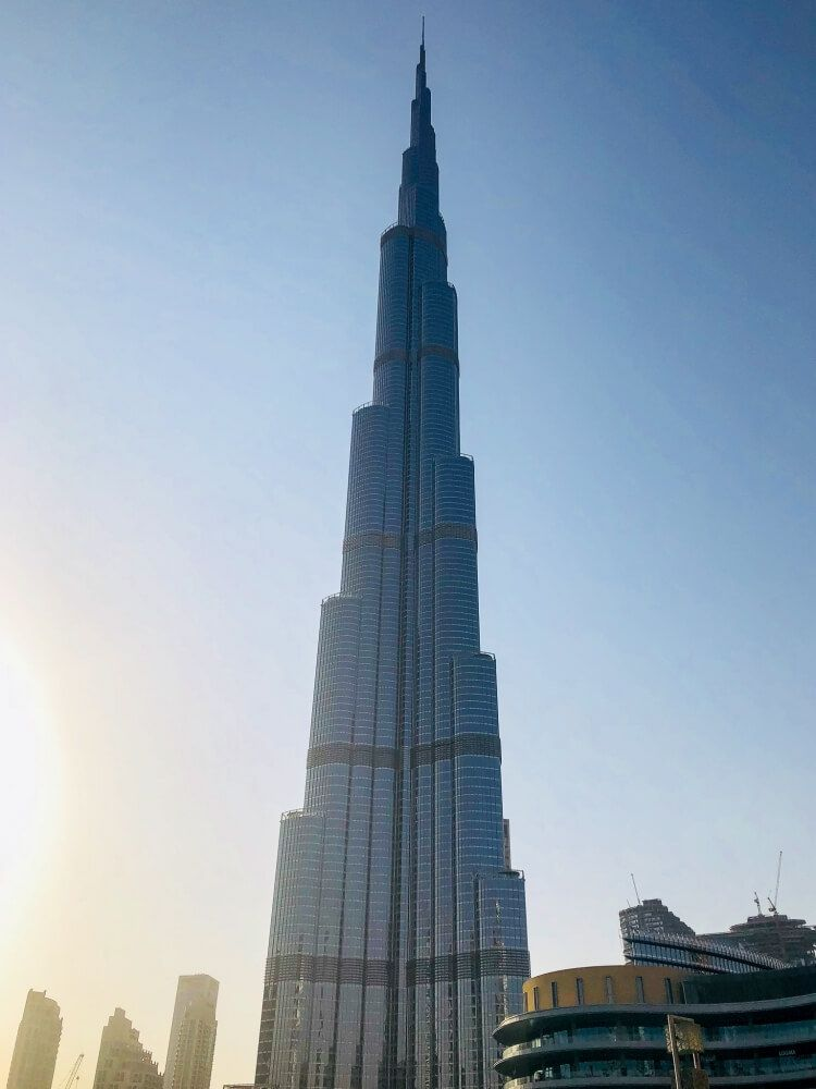 View of the Burj Khalifa from above