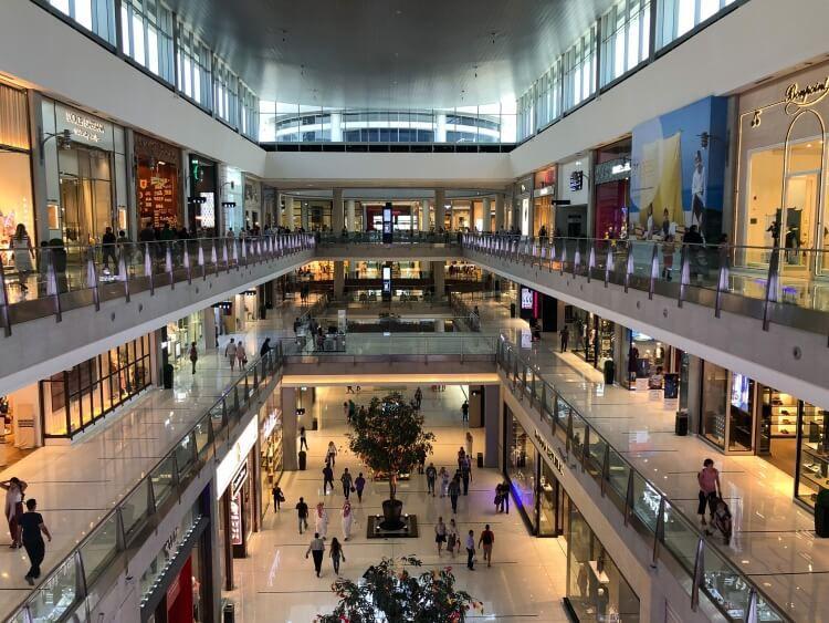 A few floors inside the Dubai Mall