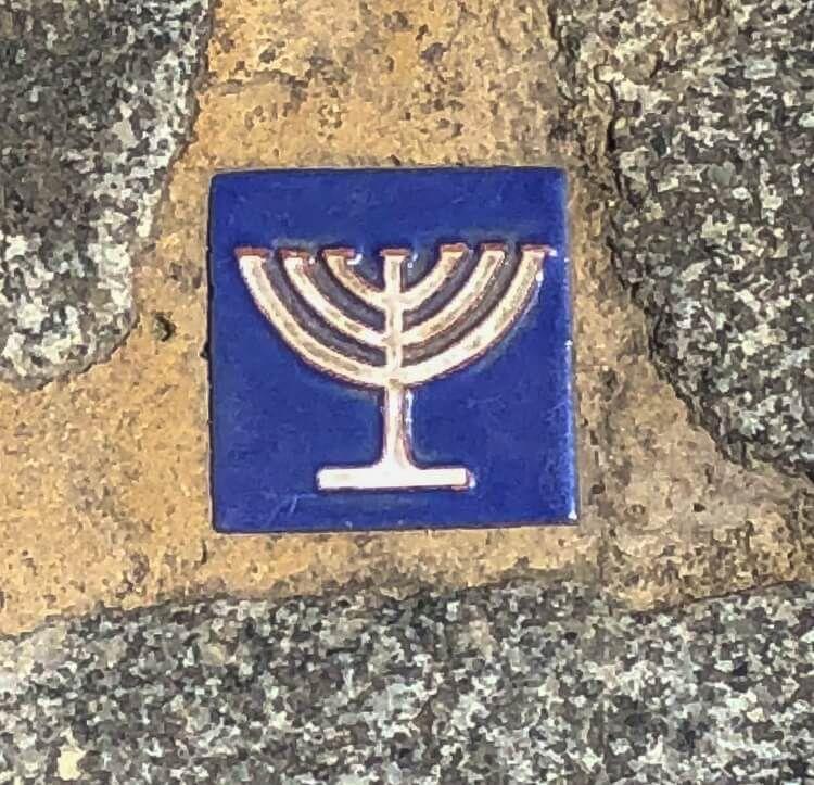 The Jewish menorah in the Jewish Quarter