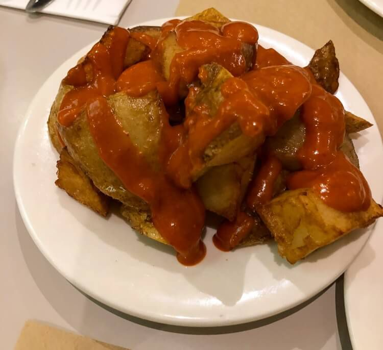 Patatas bravas during a Weekend in Barcelona