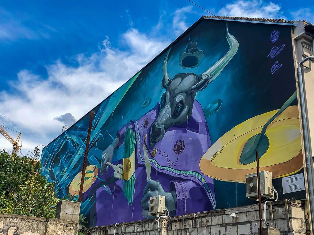 Street art in the Jewish Quarter in Budapest