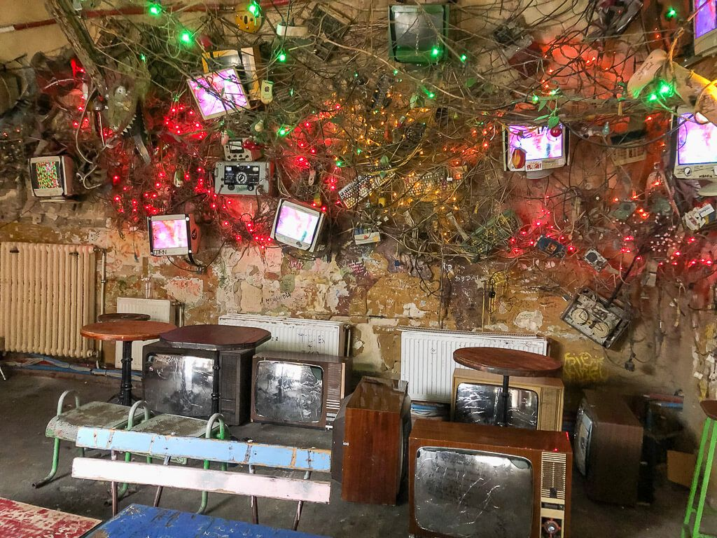 First floor decor Szimpla Kert Ruin Bar daytime
