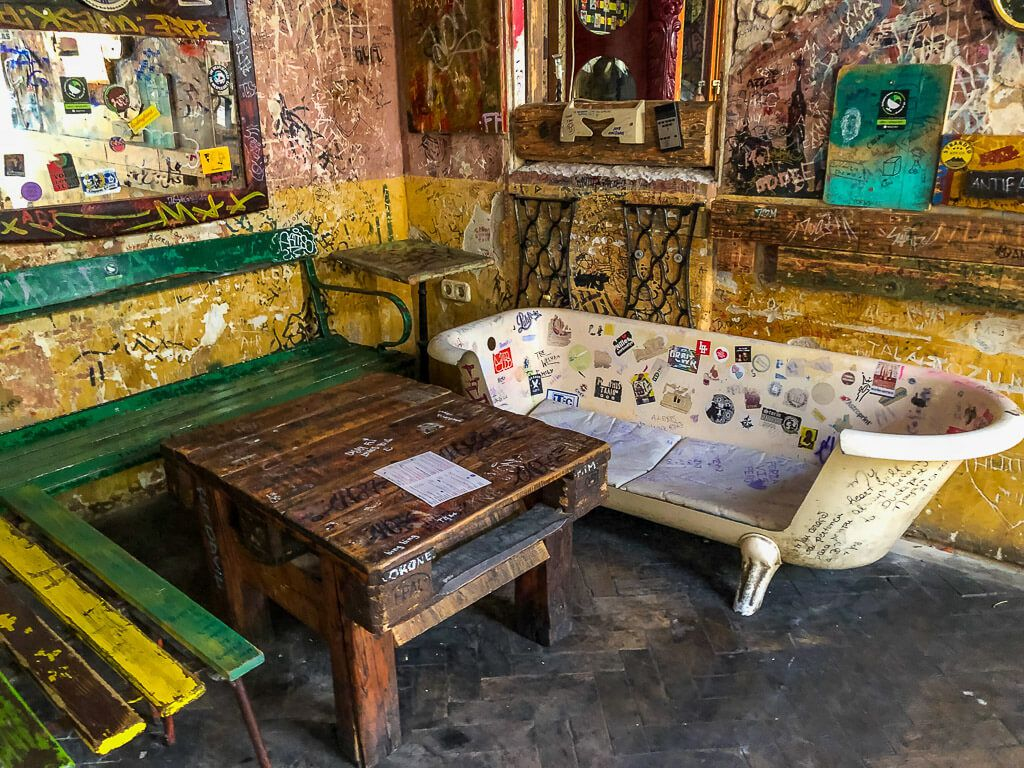 Funky furniture in Szimpla Kert