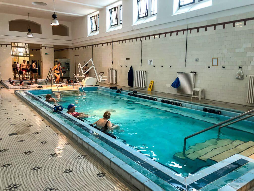 medicinal pool at szechenyi baths budapest