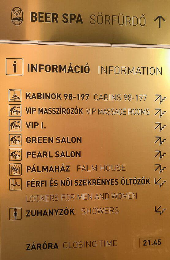 information sign szechenyi thermal baths
