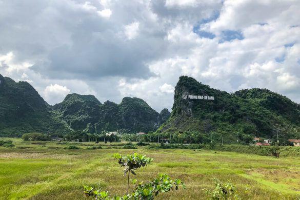 Phong Nha ke bang National Park sign on hill