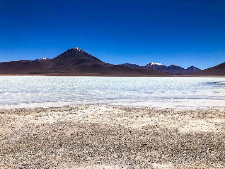 salt flat with volcano backdrop best things to do in San Pedro de atacama