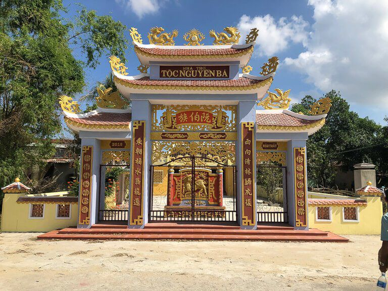 Our private tour in Hoi An family shrine for Mr Phong