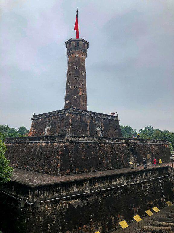 Hanoi Flag tower with flag flying