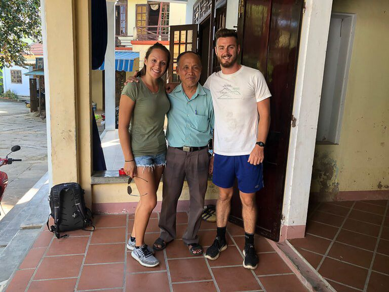 Mark Kristen and Mr Phong at the end of our private Hoi An tour