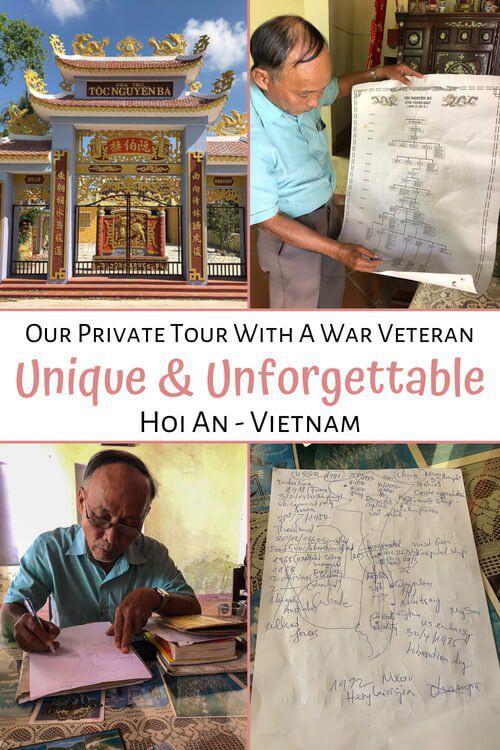 Our Private Tour With A War Veteran Hoi An Vietnam