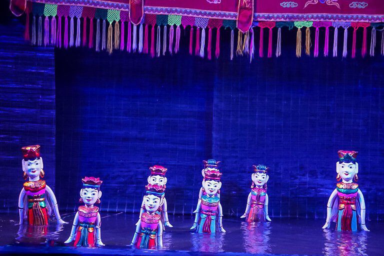 Water puppet show on hanoi itinerary Vietnam