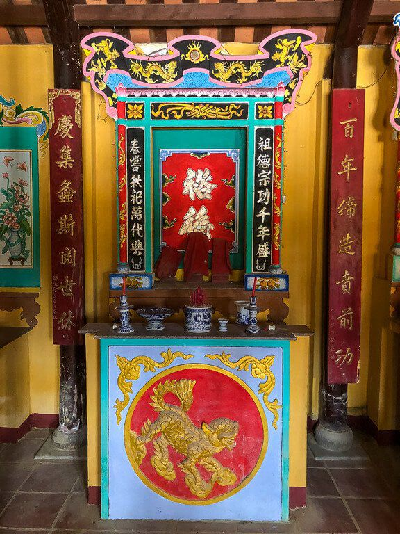 Family shrine in village near Hoi An on our private tour