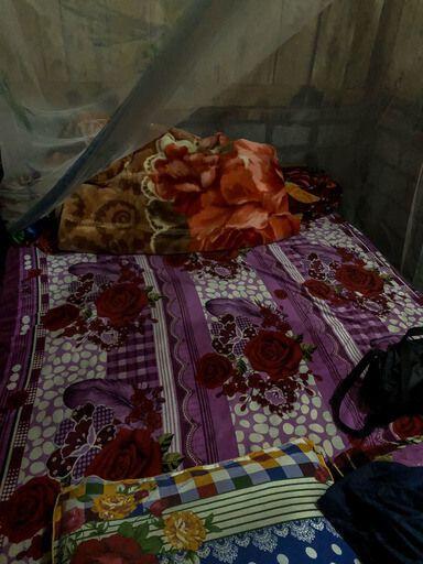 Bed in homestay trekking tour sapa vietnam