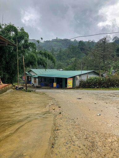 Makeshift canteen at end of dirt road sapa trekking Vietnam