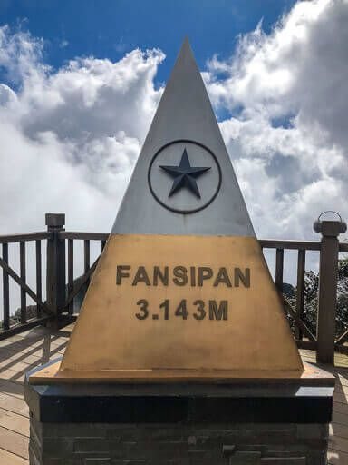 Fansipan sapa vietnam summit plaque gold and silver with star