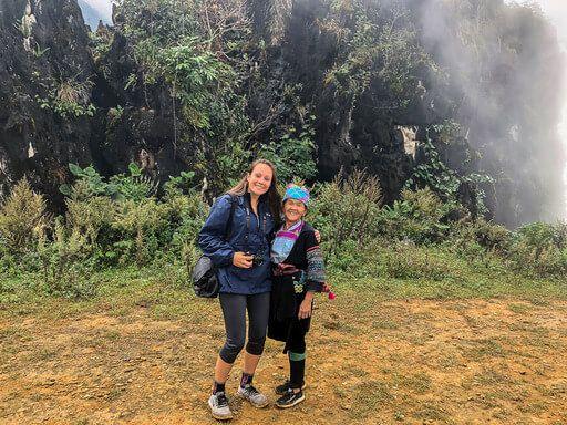 kristen with Hmong tour trekking guide Sapa vietnam