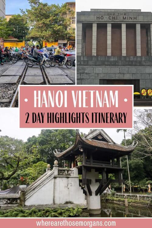 Hanoi Vietnam 2 day highlights itinerary