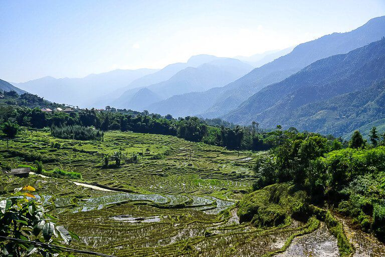 rolling green hills of Sapa one of the best things to know about vietnam