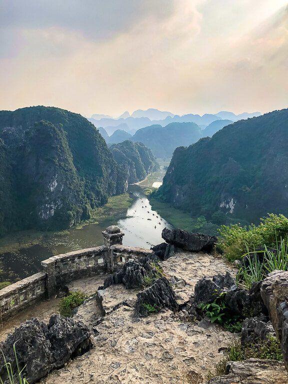 Awesome scenery at mud cave viewpoint Ninh Binh Vietnam