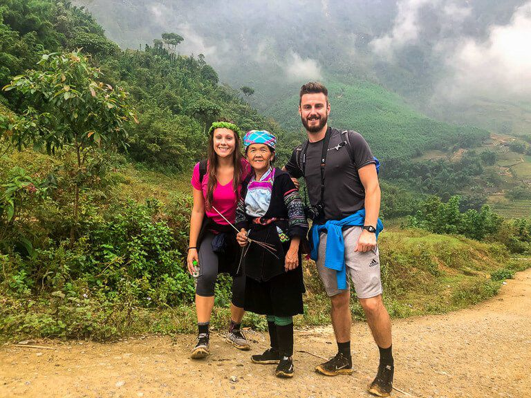 Mark Kristen and Mama Sung in Sapa Vietnam