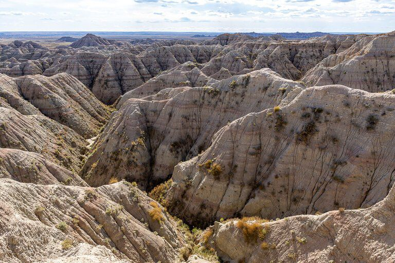 Awesome looking rock formations white river valley badlands