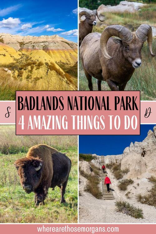 Badlands National Park 4 amazing things to do one day itinerary South Dakota USA national park road trip