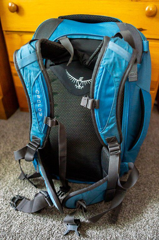 Sweat wicking mesh and comfortable shoulder straps