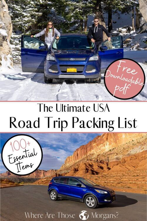 The Ultimate USA Road Trip Packing List