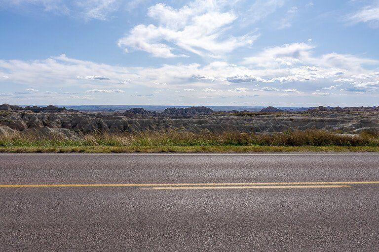 Scenic drive badlands national park loop road South Dakota
