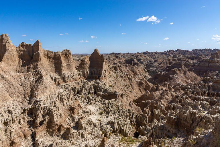 Window overlook at the end of window short trail badlands photography