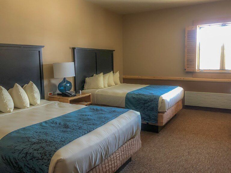 Hotel Room at Canyon Yellowstone two double beds premium room free upgrade