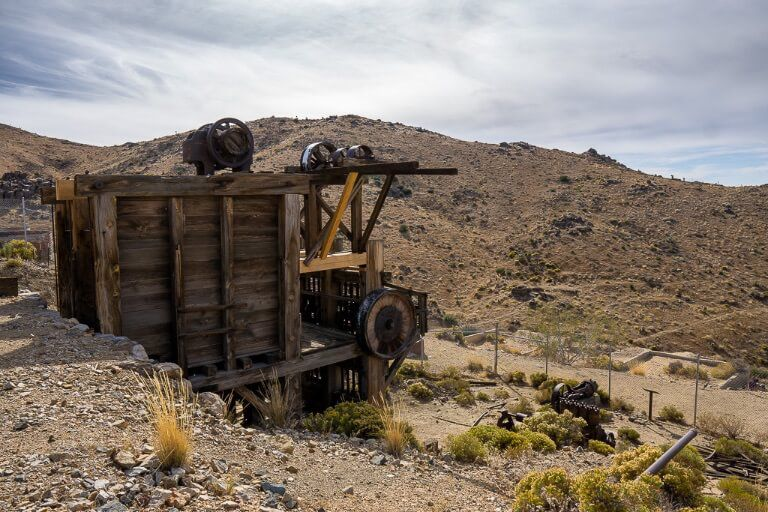 Lost horse mine old gold mine inside California national park