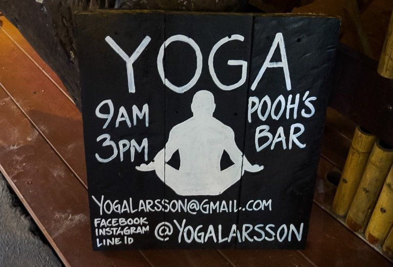 Yoga Class Sign in Thailand