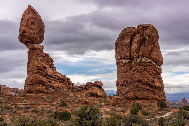 balanced rock huge boulder near Moab Utah