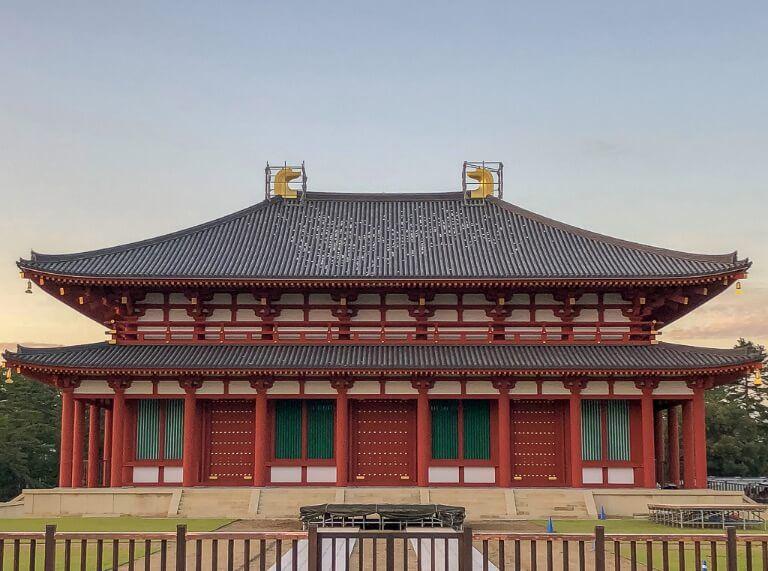 Kofukuji-ji temple golden central hall Japan