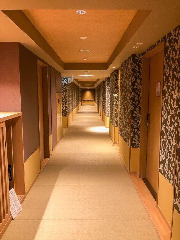 Hallway in Onyado Nono Nara Onsen featuring tatami flooring