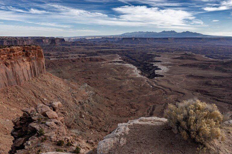 Canyonlands valley green river Colorado river creating deep gorges