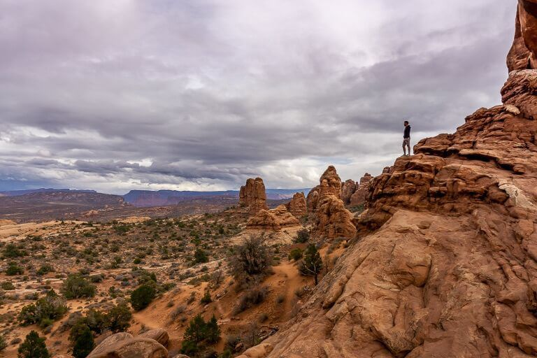 Mark where are those Morgans near north window arches national park amazing view