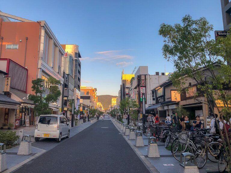 Nara Main Street through town Michelin star restaurants Japan